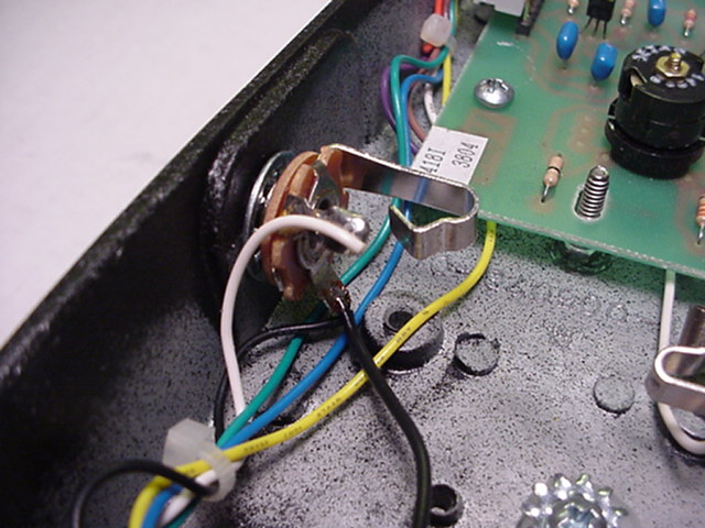 the black ground wire gets soldered on to the ground lug of the output  jack  any ground connection can be used, but the output jack is usually the  easiest